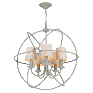 Orb Ash Grey 5 Light Pendant