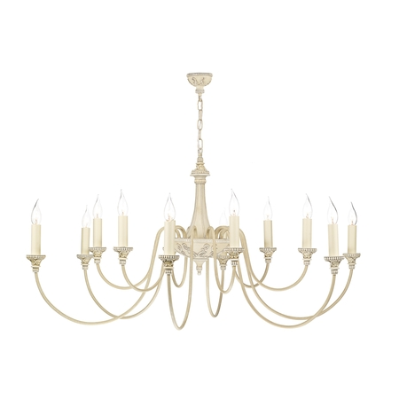 Bailey Antique Cream 12 Light Pendant