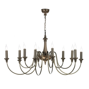 Bailey Rich Bronze 12 Light Pendant