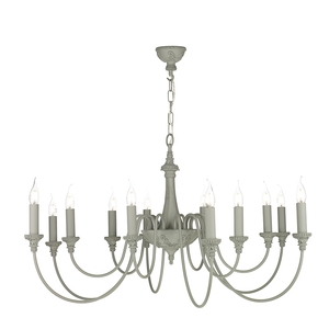 Bailey Ash Grey 12 Light Pendant