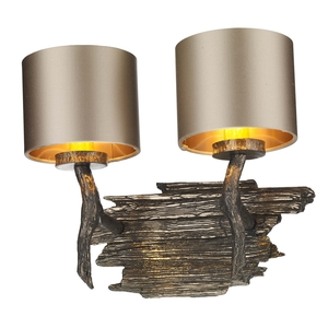 Joshua Bronze Double Wall Light