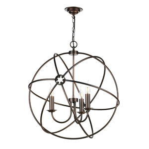 Orb 3 light Pendant Antique Copper