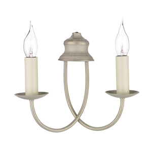 Bermuda Cream Gold Double Wall Light