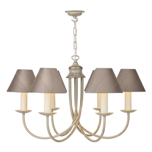 Bermuda Cream Gold 6 Light Pendant