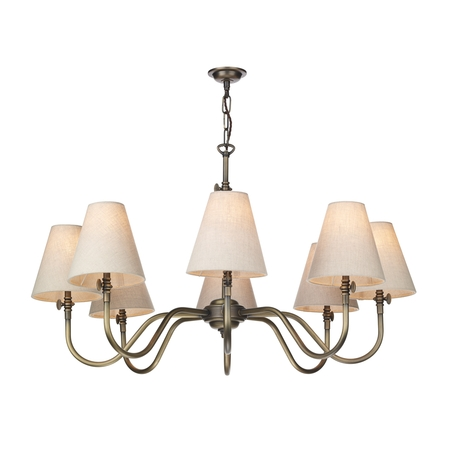 Hicks Antique Brass 8 Light Pendant
