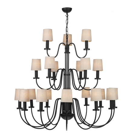 Pigalle Black 21 Light Pendant