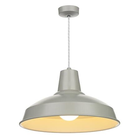 Reclamation Powder Grey Pendant