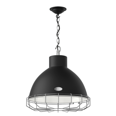 Utility Matt Black Large Pendant