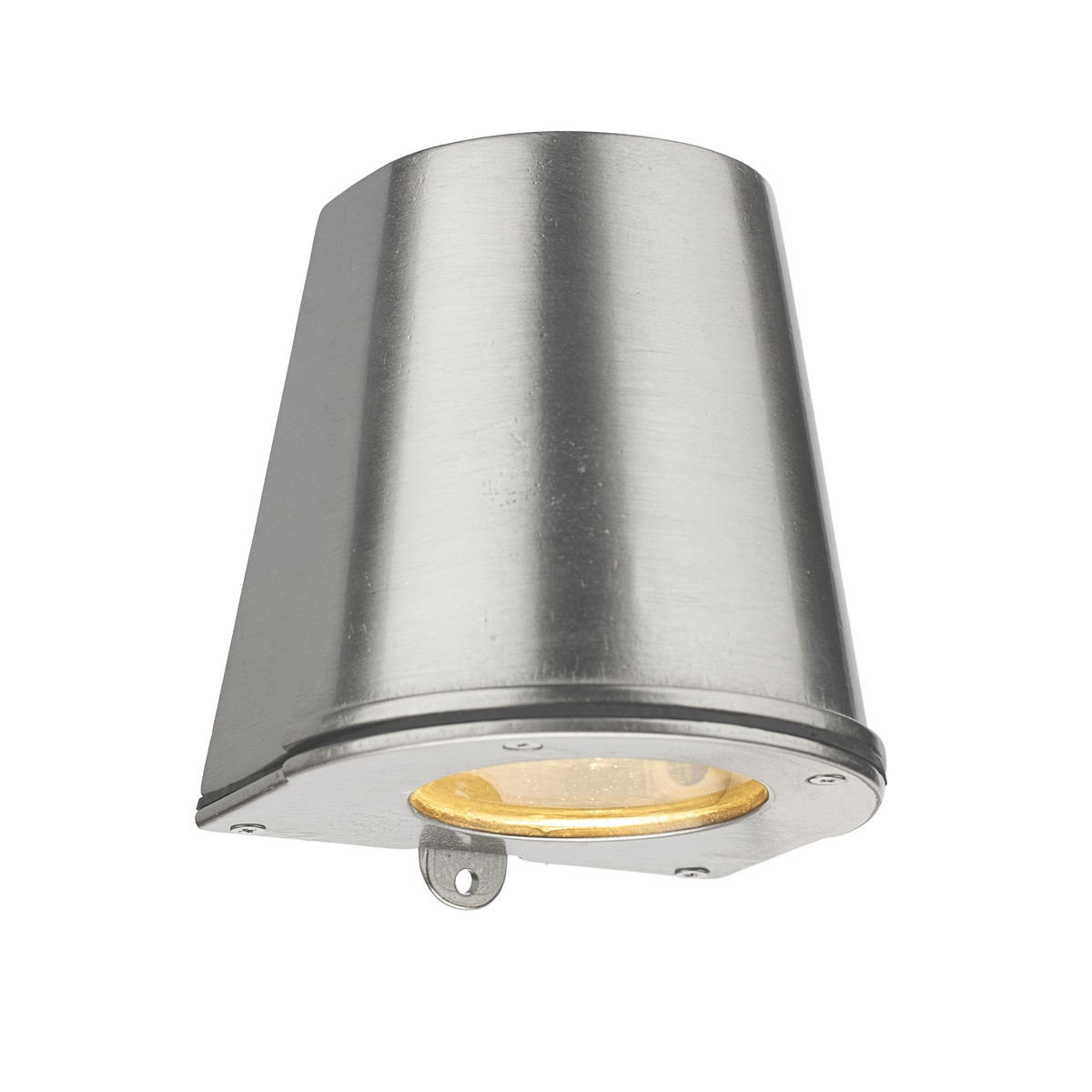 Strait Solid Brass IP44 Wall Light in Nickel
