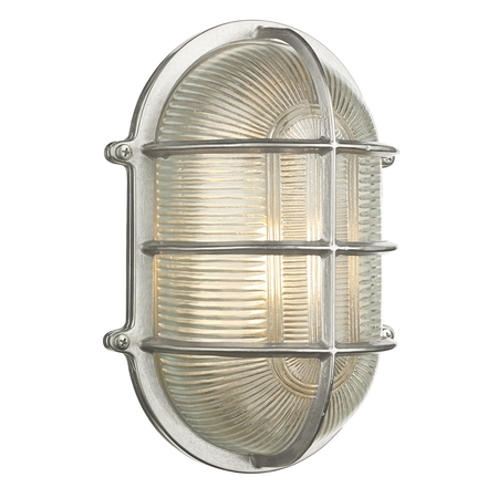 Admiral Large Oval Wall Light Nickel