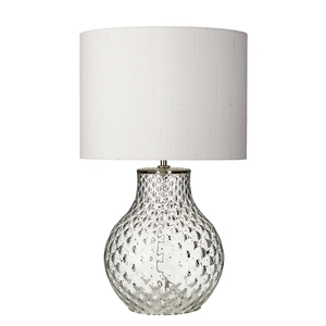 Azores Small Clear Dimpled Table Lamp
