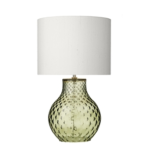 Azores Small Green Dimpled Table Lamp