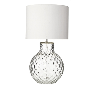 Azores Large Clear Dimpled Table Lamp