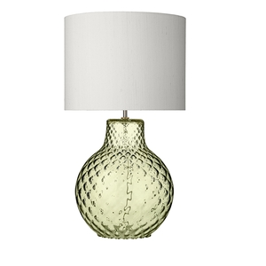 Azores Large Green Dimpled Table Lamp