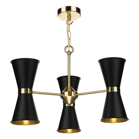 Hyde 6 Light Pendant Brass