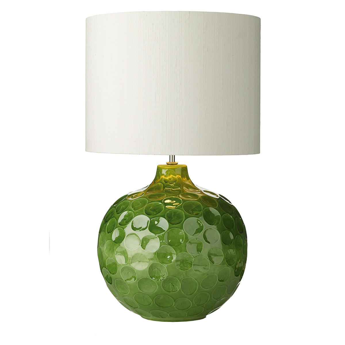 Odyssey green ceramic table lamp