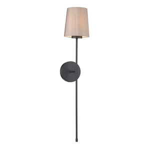 Pigalle Single Wall Light with Silk Shade