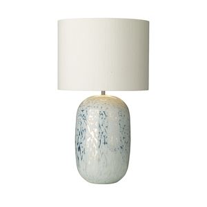 Pura White Mirrored Table Lamp